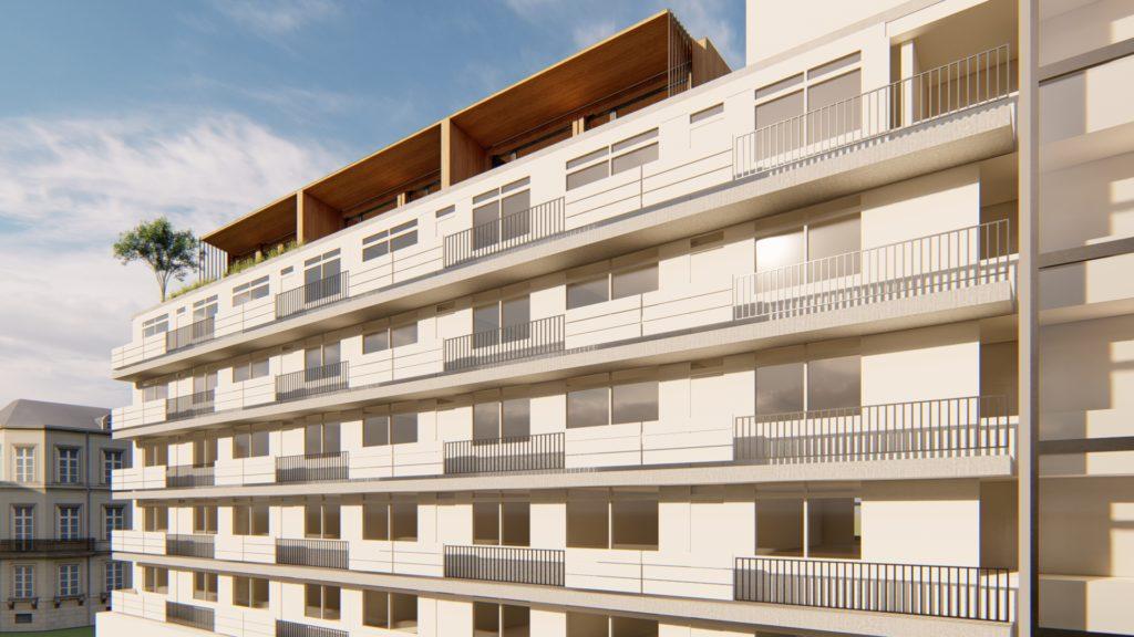 Finch modules op een flatgebouw